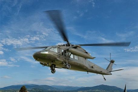 Schnelle Reaktion bei Komponenten für den Helikopter Sikorsky Black Hawk